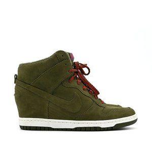 NIKE Women's Dunk Sky Hi 'Medium Olive' Sneaker
